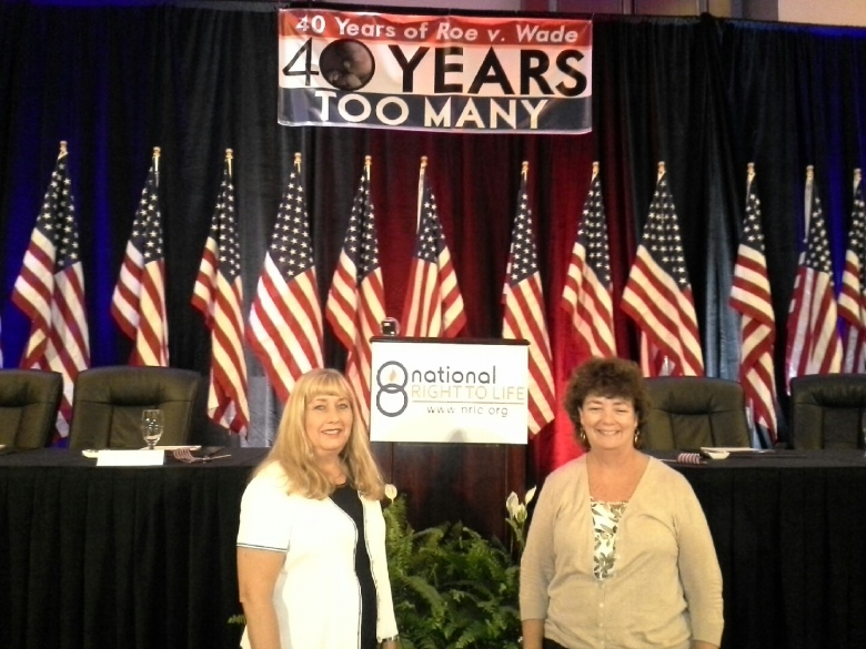 MRL Legislative Liaison, Susan Klein and MRL Delegate to the NRLC, Maggie Bick at this year's NRLC Convention in Dallas