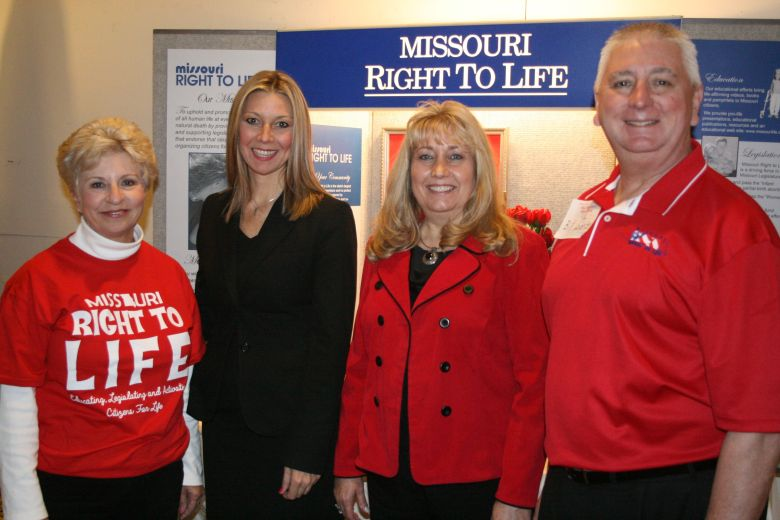 MRL President Pam Fichter with Susan Jaramillo, lobbyist Susan Klein, and MRL Director of Development Bill Zobrist.