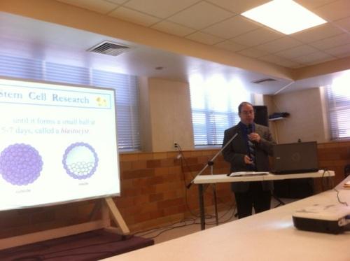 Guest speaker, Dr. John Morris, professor of philosophy and ethics at Rockhurst University